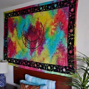 Tyi Dyi lotus and moon tapestry,wall decor,